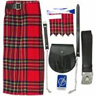 Royal Stewart Kit/Outfit 5 pc Kilt Sporran Pin Belt Flashes FREE 3 DAY DELIVERY