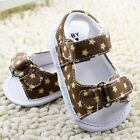 Toddler Baby girl brown pentagram sandals crib shoes size 0-6 6-12 12-18 Month