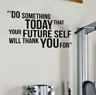 Do Something Gym Motivational Wall Decal Cardio Sports Fitness Weight loss Diet