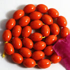 "12X16mm more size Orange red resin amber  rice fashion diy llose beads 15"" B52"