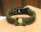 New Men Girl Bottle Opener Survival Paracord Bracelet Outdoor Gear HFCA
