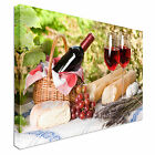 Sunny Bread and Wine Platter Canvas wall Art prints high quality great value