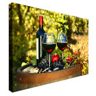 Red wine and Grapes selection Canvas wall Art prints high quality great value