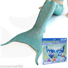 UK Mermaid Tail by Uramermaid Sea Green Age 4-13 - Includes Real Monofin New Fin