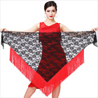Belly Dance Costume Contrast Color Tassel Lace Hip Scarf / Latin Skirt 10 Colors