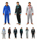 ONEZEE Mens Onesie All-In-One Hooded Jumpsuit Fleece Athletic Sporty Comfy