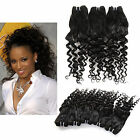 2Bundles/100g Loose Curly Straight PERUVIAN Human Hair Wefts Lady Remy Weaves