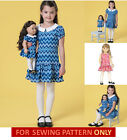 SEWING PATTERN! MAKE GIRL~DOLL MATCHING PULLOVER DRESS! FITS AMERICAN GIRL JULIE