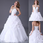 New WHITE Wedding Dress Bridal Gown Quinceanera Custom Stock size 6 8 10 12 14+
