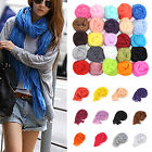 Best Women Girl Candy Color Long Soft Silk Chiffon Neck Scarf Wrap Shawl Scarves