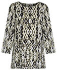 Marks & Spencer Womens Aztec Print Top 3/4 Sleeve New M&S Smart Tunic Blouse
