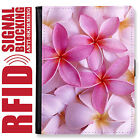 FRANGIPANI GENUINE LEATHER RFID ANTI THEFT PASSPORT WALLET ORGANIZER COVER