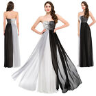 Long BEADED Wedding Party Masquerade Bridesmaid Formal Evening Ball Gown Dresses