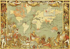 Vintage Old 1886 British Empire Map Of The World GIANT Poster Print various size