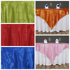 "15 pc 60x60"" Pintuck TABLE OVERLAYS Wedding Linen Supply Wholesale Decorations"