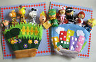 FINGER GLOVE PUPPET JOB & JUNGLE SERIES WOODEN FINGER PUPPETS ON SCENIC GLOVE