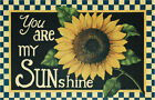 New Decorative Country Primitive You Are My Sunshine Floor Door Mat