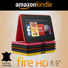 """OFFICIAL Amazon Kindle Fire HD 8.9"""" 2nd Gen/2012 Standing Leather Tablet Case"""