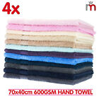4x 100% COTTON 600GSM HAND WASH FACE TOWEL WASHER BATH CLOTH TOWELS 70 x 40cm