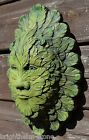 FEATHER GREEN MAN wall plaque stone garden ornament frost proof