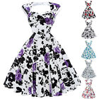 Housewife Ladies Retro Vintage Cotton Rock And Roll Party Swing Dress