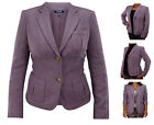 Chaps Wool-Blend Women's & Girls Blazer Purple All Sizes ...