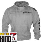 RYDERWEAR ELITE FLEECE HOODIE GREY MENS GYM TRAINING  SPORTSWEAR RYDER WEAR