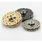 6sets Metal carving Snap Fastener Press Button Sewing on 21mm 25mm Gold Silver