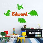Dinosaurs Boy Personalized Custom Name Vinyl  Decal Sticker Decor C