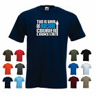 'This is What an Awesome Courier Looks Like' Mens Funny Delivery Driver t-shirt