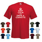 'Keep Calm and Drive a Corvette' Funny Chevrolet Chevy Birthday t-shirt Tee