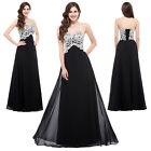 2015 Plus Size Long Black Prom Party Dresses Formal Evening Bridesmaid Ball Gown