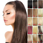 full head set clip in/on hair extensions 100% human hair remy hair new any color