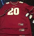 NWT. NIKE.FSU FLORIDA STATE UNIV FOOTBALL YOUTH #20 JERSEY $65 M,L,XL 53% OFF