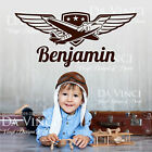 Airplane Aircraft Planes Aeroplane Custom Wall Name Vinyl Wall Decal Sticker