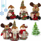 Xmas Christmas Standing Decoration Santa Snowman Deer Table Ornament Gift Toys