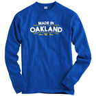 Made in Oakland V2 Long Sleeve T-shirt LS - Raiders A's Bay Area - Men   Youth