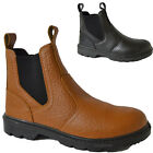 MENS SAFETY DEALER CHELSEA STEEL TOE CAP ANKLE HIGH WORK BOOTS SHOES SIZE