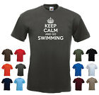 'Keep Calm and Go Swimming' Funny Mens Swim Swimmer t-shirt