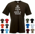 'Keep Calm and Drive a Volvo' Funny Mens Car t-shirt