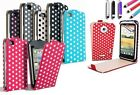 PU Leather Polka Dots Mobile Flip Case Cover for Samsung Galaxy S2 S3 ACE ACE 2