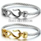Love-Infinity-Symbol-Charm-Stainless-Steel-Cable-Womens-Cuff-Bangle-Bracelet