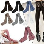 Fashion Women Lace Knit Cotton Over Knee Socks Thigh High Stockings Long Socks