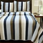 Natha Striped 100% Cotton Quilt Set, Bedspread, Coverlet image