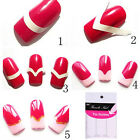 240/480PCS French Manicure Nail Art Stickers Tips DIY Decal Decoration New CAHF