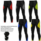 Mens Cycling Tights Padded Compression Thermal Trousers Leggings Long Anti-Bac