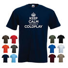 'Keep Calm and Listen to Coldplay' Chris Martin Band Birthday Gift Funny Tshirt