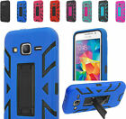 2Layer Rugged Hip Case Cover w/2Way Stand For Samsung Galaxy Grand Prime Phone