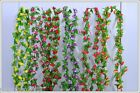 7.54ft String Fake Artificial Flowers Vine Ivy Leaf Garland Floral Home Decor