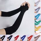 24 Color Arm Warmers Stretchy Women's Long Sleeve Gloves Mittens Warm Fingerless
